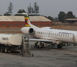 Air Zimbabwe plane refueling