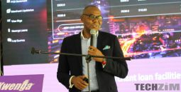Steward Bank CEO, Lance Mambondiani at the launch of Kwenga
