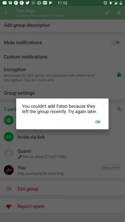 Whatsapp Admins Can No Longer Add Group Members Soon After They Have