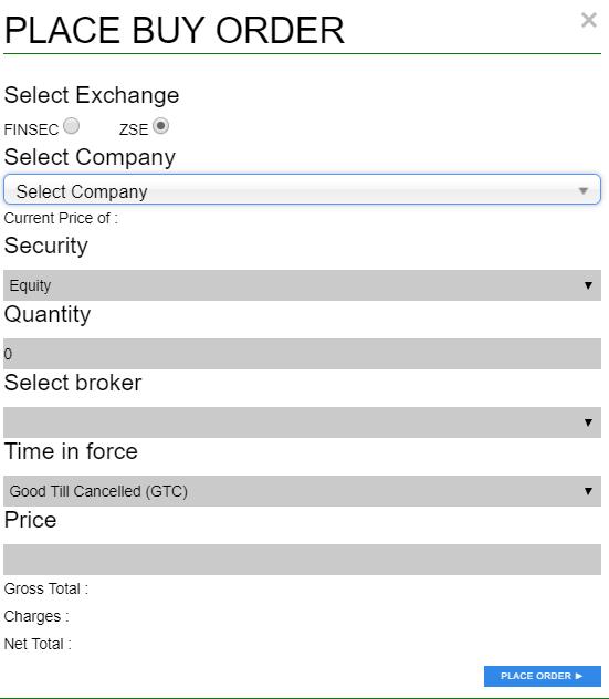 C Trade Buy Order