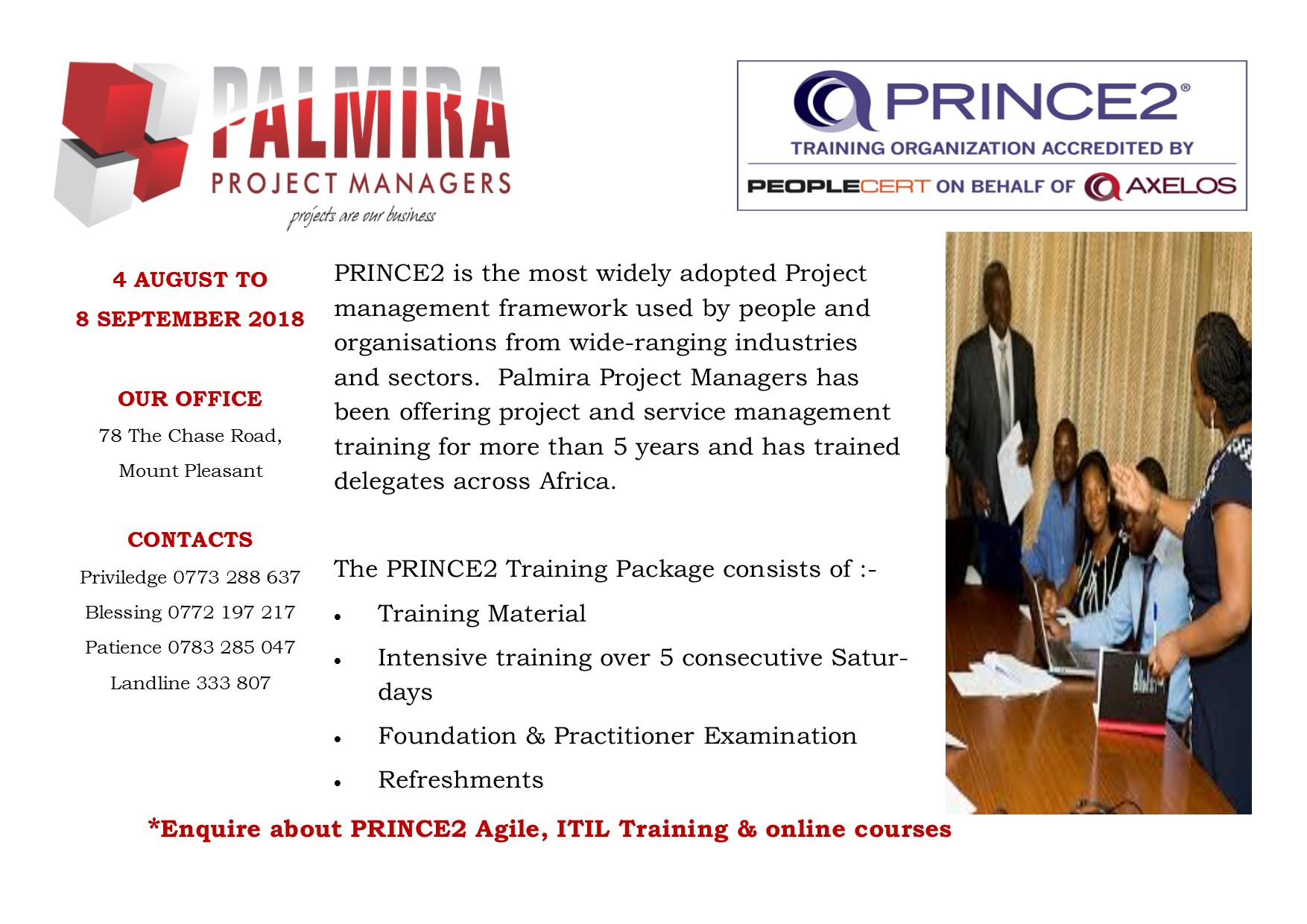 Project Management Training Uk Accreditation Lmira