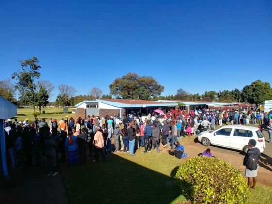 Long queue of voters in Zimbabwe's election 30 July 2018