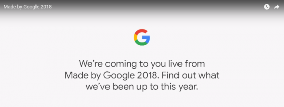 Made By Google 2018