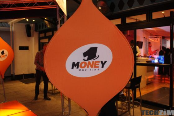 OneMoney banner at an event