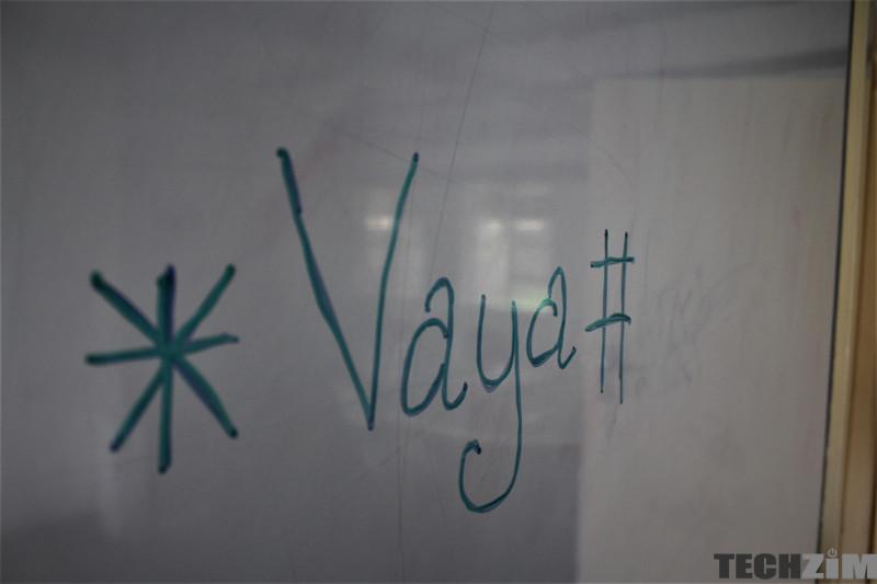 Text that says * vaya #