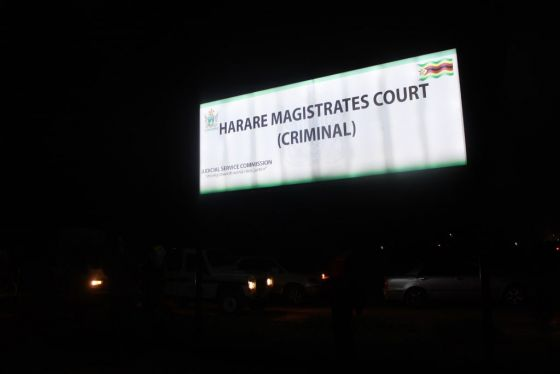 Harare Magistrate Court billboard