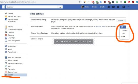How do i stop autoplay videos on facebook