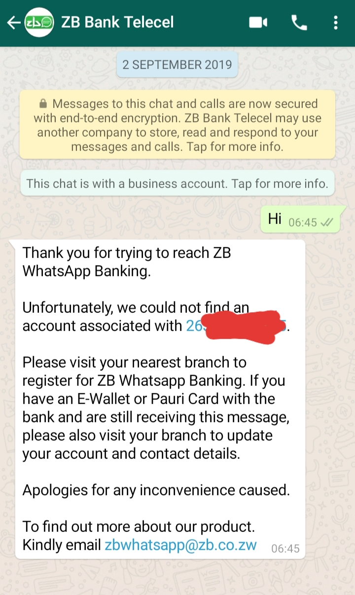 ZB Bank Launches WhatsApp Banking Platform  Here's How To