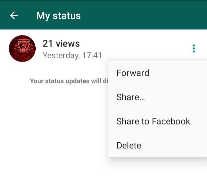 You Can Now Share Your Whatsapp Status To Facebook Harare