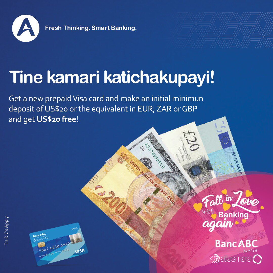 BancABC will give you US$20 to open a prepaid VISA. But is the card worth it long-term?