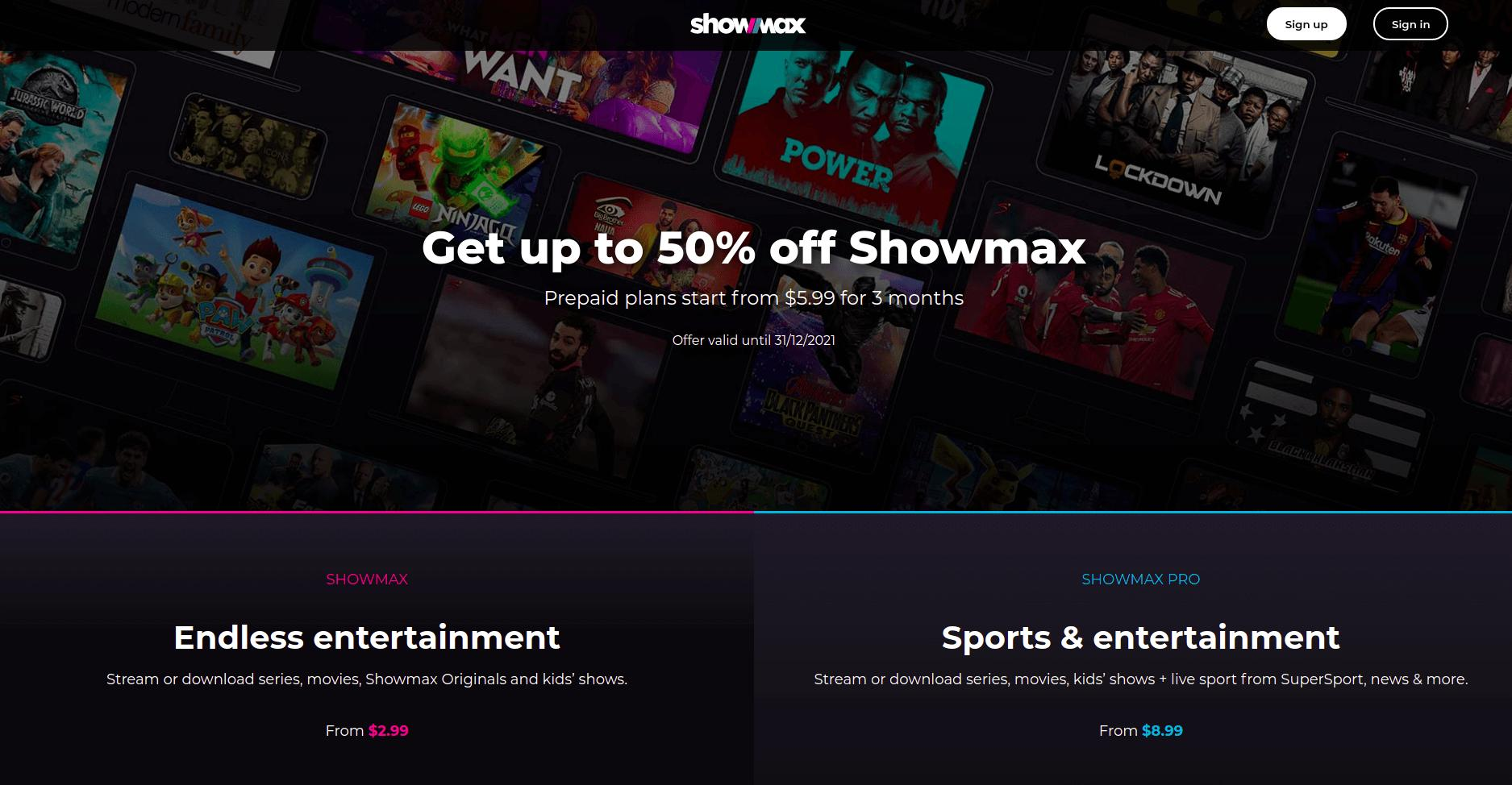 Showmax mobile price reduced to US$2.99