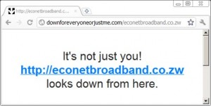 Econet Broadband site down