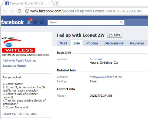 Econet Facebook Hate Group