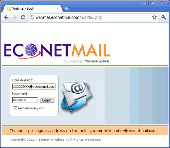 The Econet Mail login