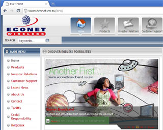 The Econet website