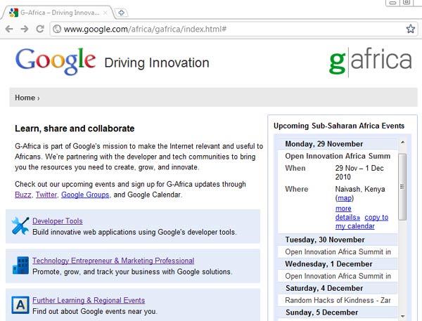 G-Africa Website