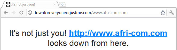 Afri-com.com Down For Everyone