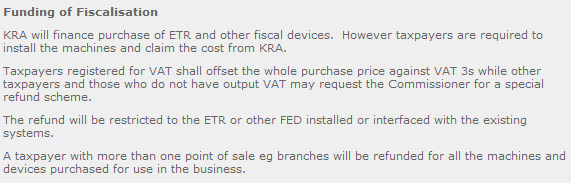 Kenya Fiscal Devices Funding