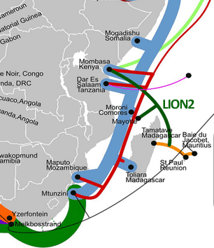 LION2 undersea cable system launches to become Kenya's