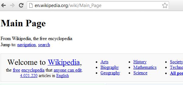 Wikipedia goes down - Techzim