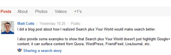 Matt Cutts, Head of Google's Webs Spam team