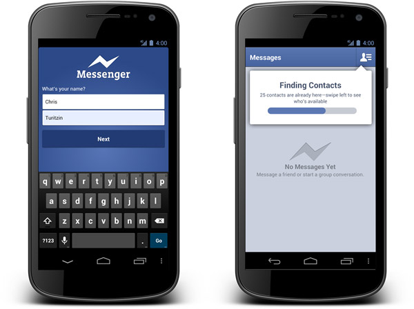 New Facebook Messenger for Android
