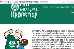 Old Mutual Hypocrisy Website