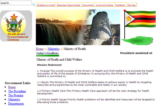 Zimbabwe Government Website